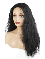 Women's Synthetic Capless Wig Black Long Curly Hair Natural Wig Heat Resistant Fiber Celebrity Wigs