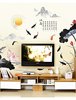 Florals Landscape Wall Stickers 3D Wall Stickers Decorative Wall StickersPaper Material Home Decoration Wall Decal