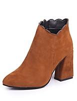 preiswerte -Damen Schuhe Vlies Winter Herbst Modische Stiefel Leuchtende Sohlen Stiefel Stöckelschuh Spitze Zehe Booties / Stiefeletten Für Normal