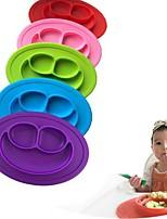 дети один кусок силиконовой тарелки тарелки тарелки для еды тарелки для малышей для малышей
