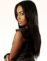 cheap -Women Wigs Enchanting Black Color Very Long  Middle Part Synthetic Wigs