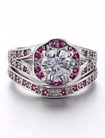 Недорогие -Жен. Классические кольца Цирконий Цирконий Позолота Бижутерия Назначение Свадьба Для вечеринок