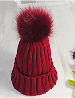 Unisex Cotton Knitwear Beanie/Slouchy Beret HatVintage Cute Party Work Casual Solid Winter Fur
