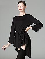 Latin Dance Dresses Women's Performance Milk Fiber Sash / Ribbon 3/4 Length Sleeve Dress Belt