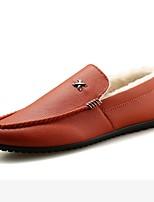 Homme Chaussures Polyuréthane Hiver Moccasin Mocassins et Chaussons+D6148 Pour Décontracté Blanc Noir Orange