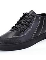 Недорогие -Для мужчин обувь Полиуретан Весна Осень Удобная обувь Кеды для Черный Коричневый