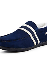 Men's Shoes Nubuck leather Winter Fall Fluff Lining Comfort Loafers & Slip-Ons For Casual Office & Career Blue Red Black
