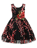 Girl's Going out Daily Solid Floral Flower/Floral Dress