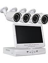 4-канальная система камеры видеонаблюдения 10,1-дюймовые ЖК-дисплеи с разрешением 1080n ahd dvr 41.0mp с ночным видением