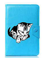 cheap -Universal Cartoon Cat PU Leather Stand Cover Case For 7 Inch 8 Inch 9 Inch 10 Inch Tablet PC