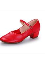 Women's Modern Leatherette Heel Outdoor Splicing Chunky Heel Red Fuchsia Black Customizable
