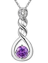 Women's Pendant Necklaces Rhinestone Infinity Rhinestone Silver Plated Classic Elegant Jewelry For Wedding Party