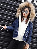 Girls' Solid Jacket & Coat Blue