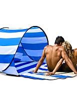 Недорогие -2 человека Палатка с экраном от солнца Тент для пляжа Навес Один экземляр Палатка Однокомнатная Автоматический тент Воздухопроницаемость