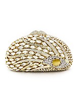 cheap -Women Bags Metal Evening Bag Crystal Detailing Flower(s) for Wedding Event/Party All Season Gold