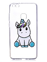 cheap -Case For Huawei P9 Huawei P9 Lite Huawei P8 Lite (2017) P10 Lite Transparent Pattern Back Cover Unicorn Soft TPU for P10 Lite P10 Huawei