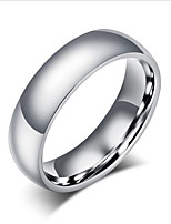 Men's Women's Basic Titanium Steel Circle Jewelry For Wedding Party