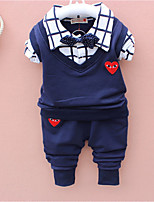 cheap -Boys' Cartoon Clothing Set,Cotton All Seasons Long Sleeve Simple Cute Street chic Red Light Blue Royal Blue