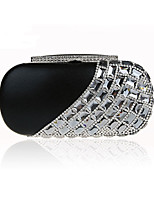Women Bags Polyester Evening Bag Crystal Detailing for Wedding Event/Party All Season Black Silver Red Purple Fuchsia