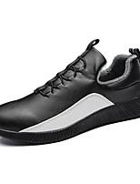 economico -Da uomo Scarpe PU sintetico Inverno Suole leggere Fodera di lanugine Sneakers Per Casual Bianco Nero