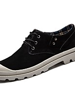 cheap -Men's Shoes Pigskin Winter Comfort Sneakers For Casual Brown Gray Black