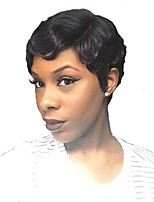 Women Synthetic Wig Capless Short Curly Black Side Part Celebrity Wig Natural Wigs Costume Wig