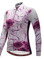 CYCOBYCO Maillot et Cuissard Long de Cyclisme Femme Manches longues Vélo Ensemble de Vêtements Tenues de Cyclisme Garder au chaud Sports