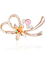 Women's Brooches Rhinestone Metallic Basic Alloy Irregular Jewelry For Wedding Party