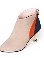 preiswerte -Damen Schuhe PU Winter Frühling Komfort Stiefel Für Schwarz