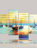 Canvas Print Modern,Four Panels Canvas Horizontal Print Wall Decor For Home Decoration