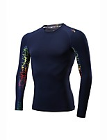 Men's Running Baselayer Long Sleeves Trainer Quick Dry Fitness Sweatshirt for Running/Jogging Exercise & Fitness Elastane Polyster Royal
