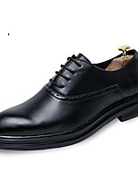 Men's Shoes Leatherette Winter Fall Comfort Formal Shoes Oxfords for Party & Evening Office & Career Black Brown