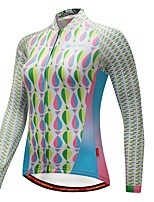 CYCOBYCO Cycling Jersey Women's Long Sleeves Bike Jersey Top Winter Fleece Bike Wear Thermal / Warm Winter Sports Solid Geometric Fashion