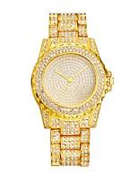 Femme Montre Tendance Montre Habillée Montre Bracelet Chinois Quartz Gravure ajourée Imitation de diamant Alliage de métal Bande Luxe