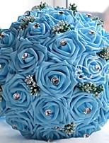 Недорогие -Свадебные цветы Букеты Свадьба Шёлковая ткань рипсового переплетения 25 см