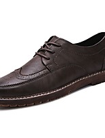 Men's Shoes PU Spring Fall Comfort Oxfords for Casual Black Coffee Brown