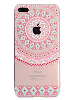 baratos -Capinha Para Apple iPhone X / iPhone 8 Plus Transparente / Estampada Capa traseira Mandala Macia TPU para iPhone X / iPhone 8 Plus / iPhone 8