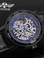 WINNER Муж. Нарядные часы Наручные часы Механические часы С автоподзаводом С гравировкой Кожа Группа Роскошь На каждый день Черный
