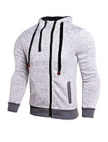 Men's Running Jacket Long Sleeves Wearable Top for Rayon Polyester Slim Black Grey S M L XL XXL