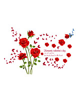 Cartoon Romance Florals Wall Stickers Plane Wall Stickers Decorative Wall Stickers,Vinyl Material Home Decoration Wall Decal