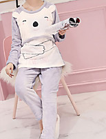 Costumes Pyjamas Femme,Animaux Coton Polyester Gris