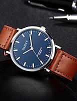 Недорогие -Муж. Повседневные часы Модные часы Наручные часы Китайский Кварцевый Секундомер Защита от влаги Кожа Группа На каждый день Черный