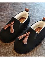preiswerte -Mädchen Schuhe Künstliche Mikrofaser Polyurethan Winter Herbst Komfort Loafers & Slip-Ons Für Normal Schwarz Braun Dunkelgrau
