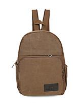 cheap -Men Bags Canvas Backpack Zipper for Casual Sports All Season Green Black Coffee Khaki