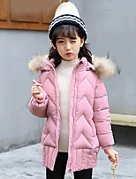 Girls' Solid Down & Cotton Padded,Polyester Long Sleeve Casual Blushing Pink