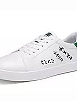 cheap -Men's Shoes PU Spring Fall Comfort Sneakers For Casual White/Green Black/White Black