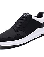 Men's Shoes PU Spring Fall Light Soles Sneakers For Casual Black/Red Black/White Black