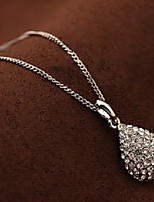 Women's Pendant Necklaces Drop Rhinestone Alloy Cute Style Fashion Jewelry For Party Daily