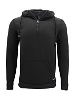 cheap -Men's Daily Hoodie Solid Cotton Long Sleeves