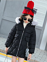 Girls' Solid Down & Cotton Padded Long Sleeves